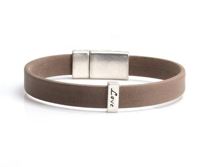 Leather Bracelets, Unisex Bracelet, Love Bracelet