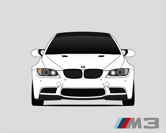 BMW E92 M3 // E90 E91 E92 E93 // BMW 3 Series // M3 Poster //