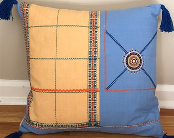 Sunny Day Pillow Covers with Tassels - 16""