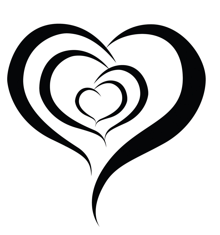 Triple hearts temporary tattoo somaarttattoo temporary zoom buycottarizona Image collections