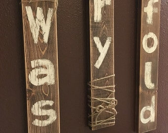 Wash dry fold laundry room wall decor