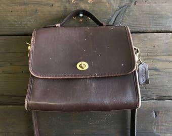 Vintage 90s Coach Leather Crossbody Bag