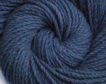 Handspun yarn - Domestic wool, heavy worsted weight, 175 yards - Sing the Blues