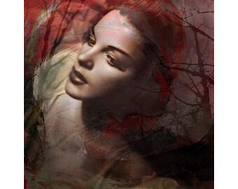 Judy Garland abstract, vintage goddess, digital print, fine art, photomontage, digital art, modern art, home decor, wall art, abstract