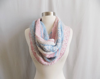 Pastel Cowl- Boho Scarf- Bohemian Style- Bohemian Accessories- Snood- Mexican Blanket- One Of a Kind- Knitted Cowl- Boho Scarf- Cowl Scarf