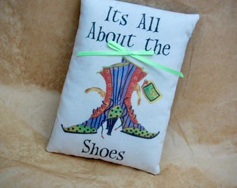 Its All About the Shoes | Funky Witch Shoes | Witch boots | Witch Shoes Pillow | Diva Shoes | Halloween Decoration | Halloween Decor