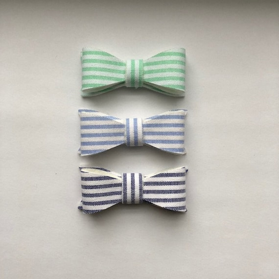 Striped Cotton Bows
