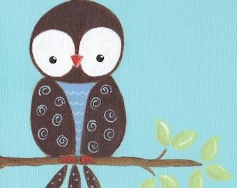 Owl Name Sign - 4x12