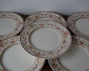 Set of 6 Dinner Plates Empire England Dorset Made in England 10\u0027\u0027 26cm Perfect & English dinnerware | Etsy
