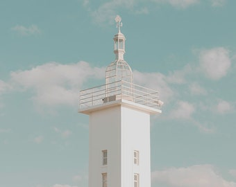 Lightshouse Tower Portugal Architecture Art Print Wall Decor Image - Unframed Poster