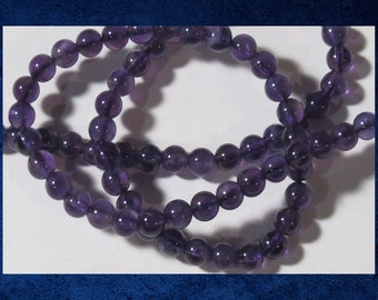"""Amethyst, Purple - 16"""" strand of 4mm smooth round ball. Approx 95 gemstone beads. #AMY-230"""