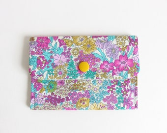 Liberty Lawn 'Margaret Annie X' Small Snap Wallet