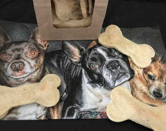 Big Beefy Bones! These bone shaped treats will make your pooches drool...even more than they do now!