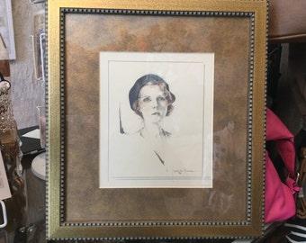 janet Stewart Allen original framed artwork