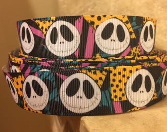 5 YDS Nightmare Before Christmas with Sally Background Ribbon