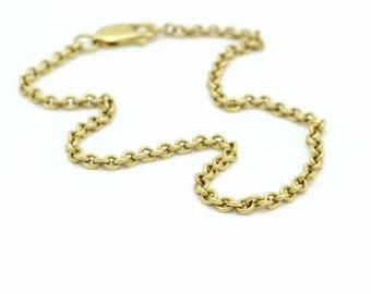 14kt Yellow Gold Curb Chain Bracelet, Vintage Gold Bracelet, Vintage Jewelry