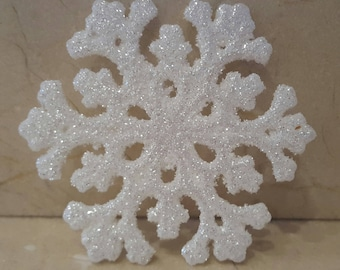 """2 sconces snowflakes with glitter """"snow Queen"""""""