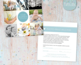 Photography Print Release - Photoshop template - VG005 - INSTANT DOWNLOAD