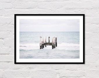 Ocean Art Print, Beach Wall Art, Ocean Wall Art, Beach Photography, Ocean Wave, Beach Print, Sea Print, Landscape Photo, Large Poster