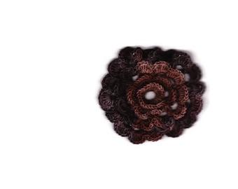 Brown crocheted flower