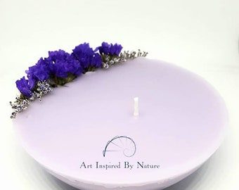 FLORAL AROMA CANDLE scented for birthday, father's day, bridal, wedding, unity candle, gift idea, gift for her, anniversary, on sale, unique
