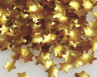 Gold Stars Edible Glitter - metallic gold shimmer stars sprinkles for cupcakes, cookies, cakes