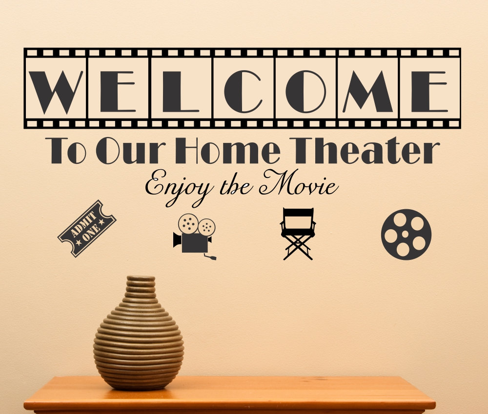 Home Theater Wall Art. House Wall Decoration Ideas Diy Wood Family ...