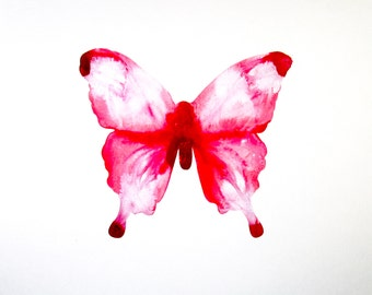 Pink Butterfly Print, Pink Butterfly Wall Art, Breast Cancer Donation, Charity Donation, Cancer Awareness, Butterfly Gifts, Butterfly Art