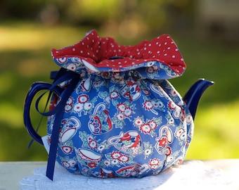 Teapot Cozy Teacups & Dots Ready Made