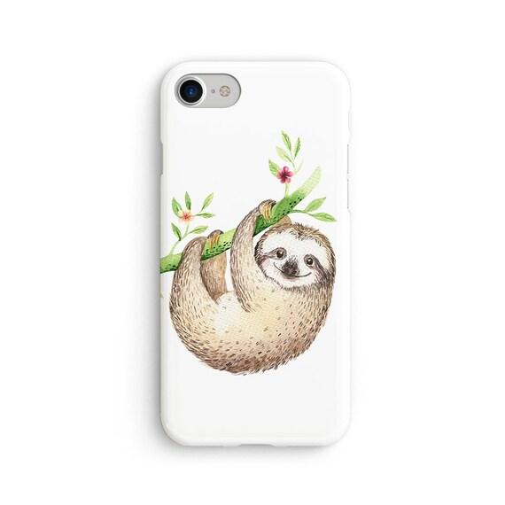 Cute hanging sloth iPhone X case - iPhone 8 case - Samsung Galaxy S8 case - iPhone 7 case - Tough case 1P088