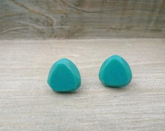 Triangle stud earrings Stainless steel posts, Geometric studs, Large stud earrings