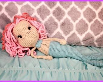 Mermaid Doll Hand Crocheted