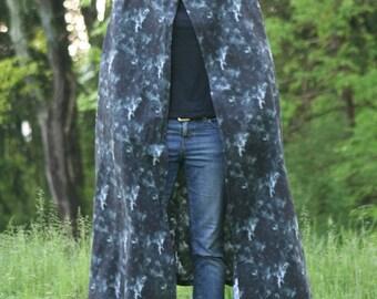 Black and White Tie Dye Cloak