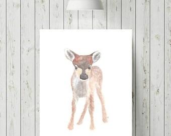 Woodland Nursery Animal Prints, Woodland Nursery Decor, Baby Deer Art, Neutral Nursery, Woodland Nursery Prints, Deer Print