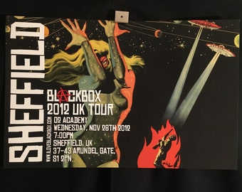 Blackbox The Astounding She Monster UK 2012 Sheffield Concert Tour Poster Signed/Numbered