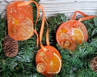Fragrant sachet New Year's souvenir Wax tablet Wax sachet Wedding idea Guest gifts Orange flavor Souvenir Flavor Flavored Sachet Gift