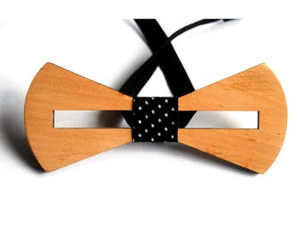Wood gift Wooden gift Gift of wood Wood Eco gift Wooden tie Wood tie Wood bowtie Wooden bowtie Men's tie Bowtie Tie