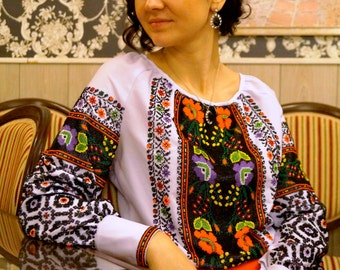 Ukrainian embroidery, beads embroidery, national embroidery, women blouse, embroidered blouse, beadwork, beaded