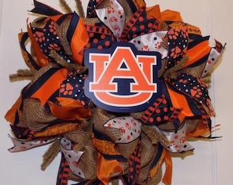 Auburn Tigers Burlap Wreath
