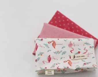 Flamingo - Quarter Fabric Pack 3 Fabric 1set - Sets for 3 each 45 X 55 cm