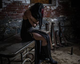 The Death of Hope - Urban Exploration- urbex, model, goth, punk, dangerous, asylum, psychiatric, lunatic, abandoned
