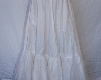 Handmade crinoline petticoat/underskirt with tulle at bottom