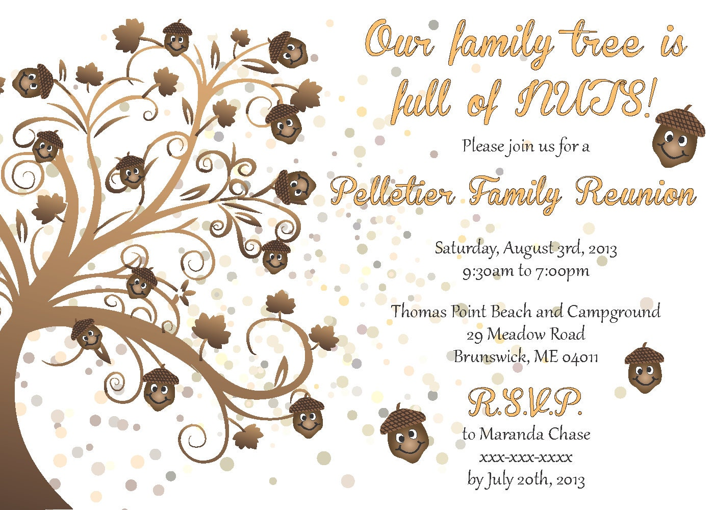 Awesome 🔎zoom  Invitations For Family Reunion