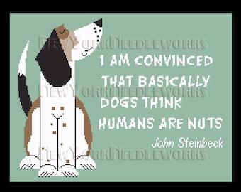 Dog Cross Stitch, Animals Cross Stitch, Cross Stitch, Quotes Cross Stitch, Modern Cross Stitch, Dog Pattern, Dogs from NewYorkNeedleworks