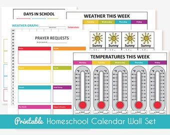 Printable Homeschool Calendar Wall Set