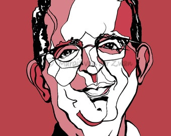 Portrait of the Reverend Richard Coles Limited edition print of BBC Radio 4 presenter and musician in The Communards