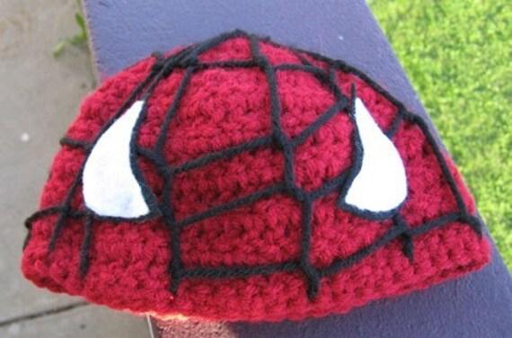 Baby Spiderman Beanie Crochet Pattern Hat