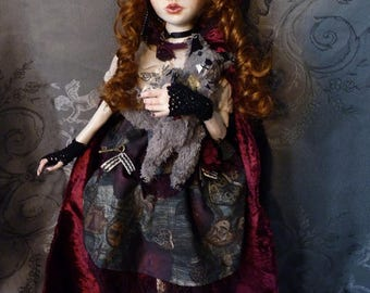 The Red Riding Hood, Handmade Doll, unique piece