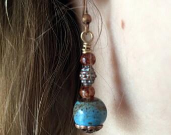 Earrings - Beaded - Robin's Egg Earrings