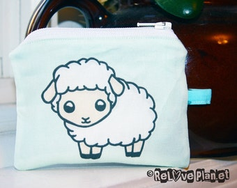 Cute Sheep Mini Coin Purse Zipper Pouch - Kawaii sheep - Wallet - ReLove Plan.et